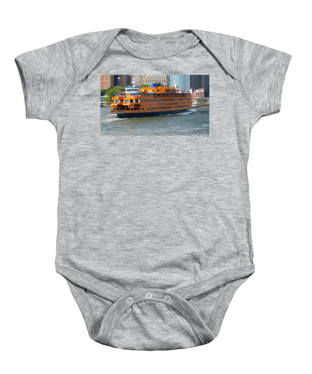 South Ferry Baby Onesie featuring the photograph South Ferry Water Ride1 by Terry Wallace