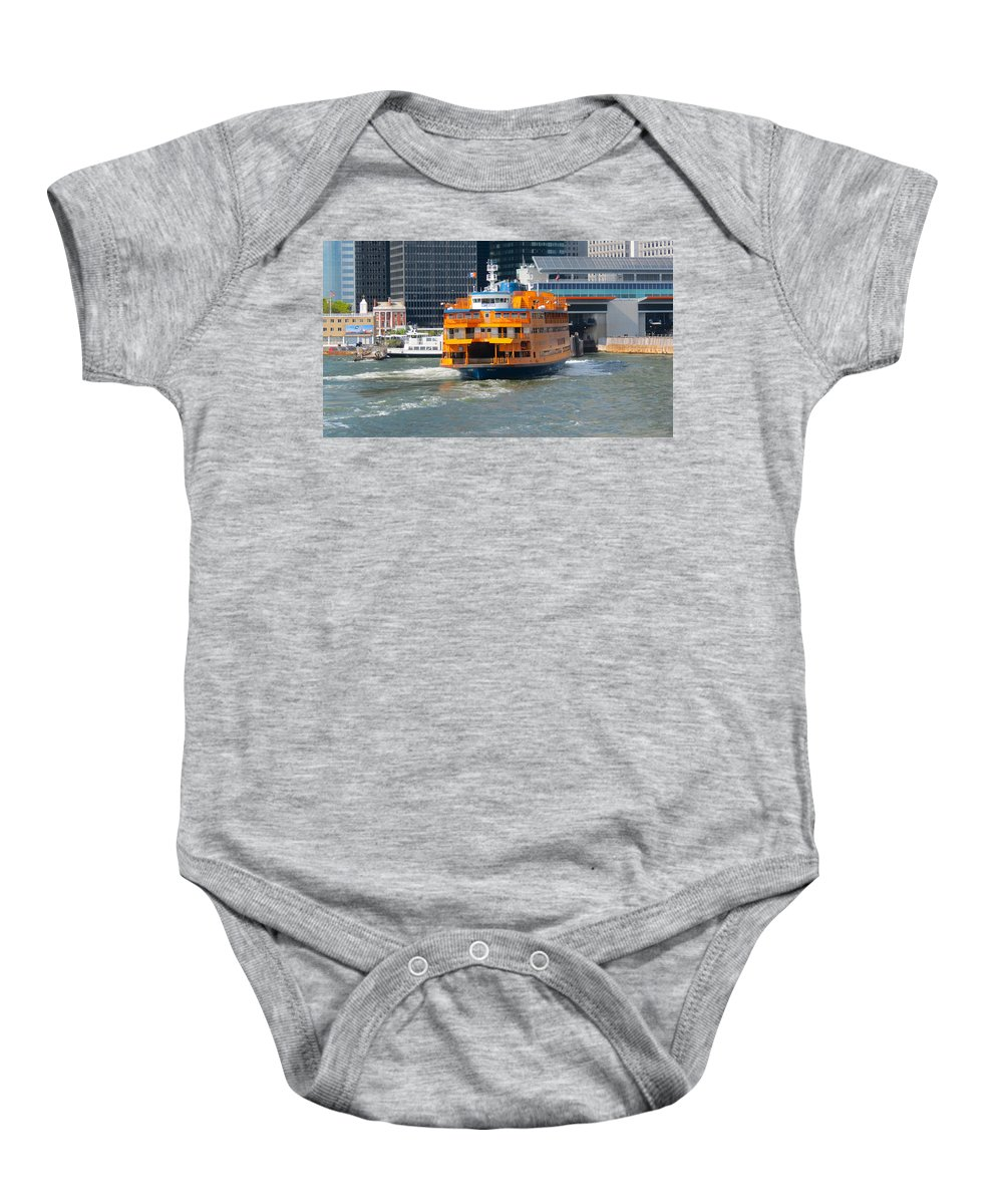 South Ferry Baby Onesie featuring the photograph South Ferry Water Ride2 by Terry Wallace