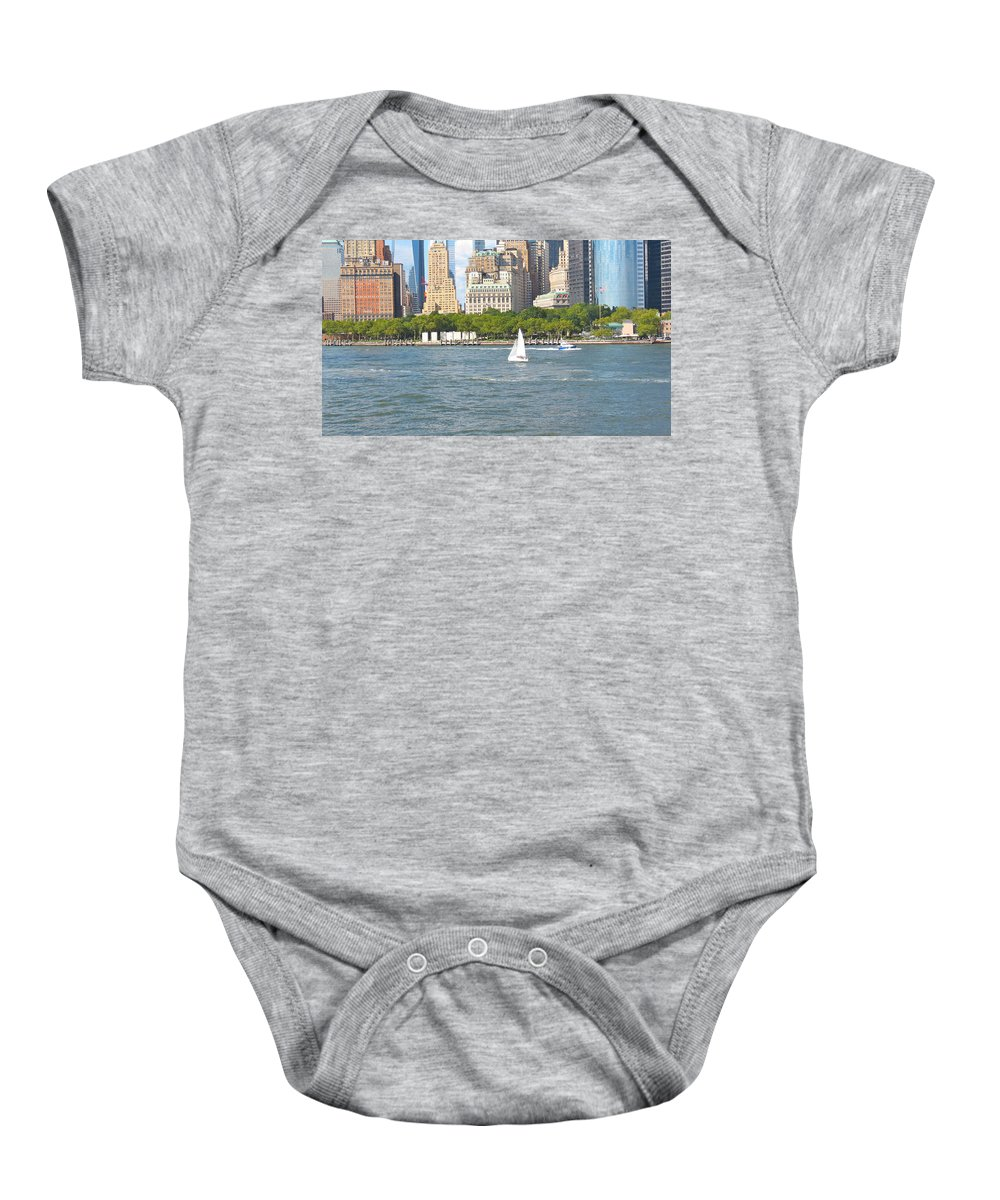 South Ferry Baby Onesie featuring the photograph South Ferry Water Ride4 by Terry Wallace