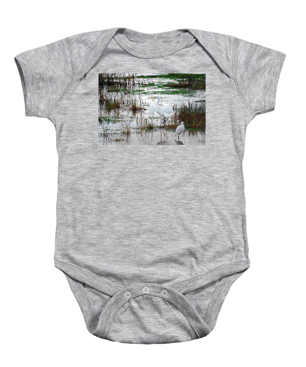 Great Egret Baby Onesie featuring the photograph Spread Your Wings by Lori Tambakis