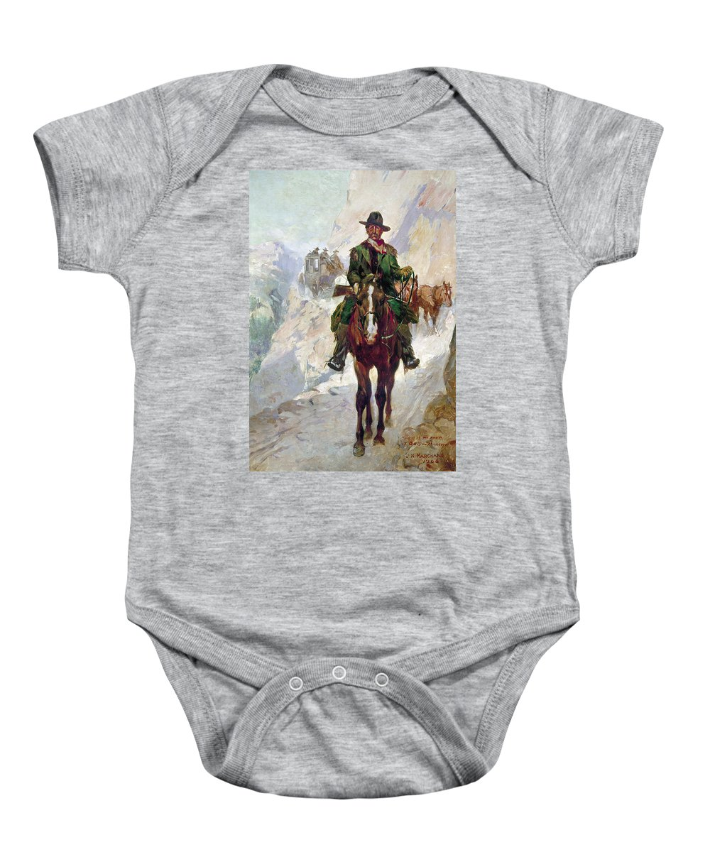 1906 Baby Onesie featuring the photograph Stagecoach Travel, 1906 by Granger