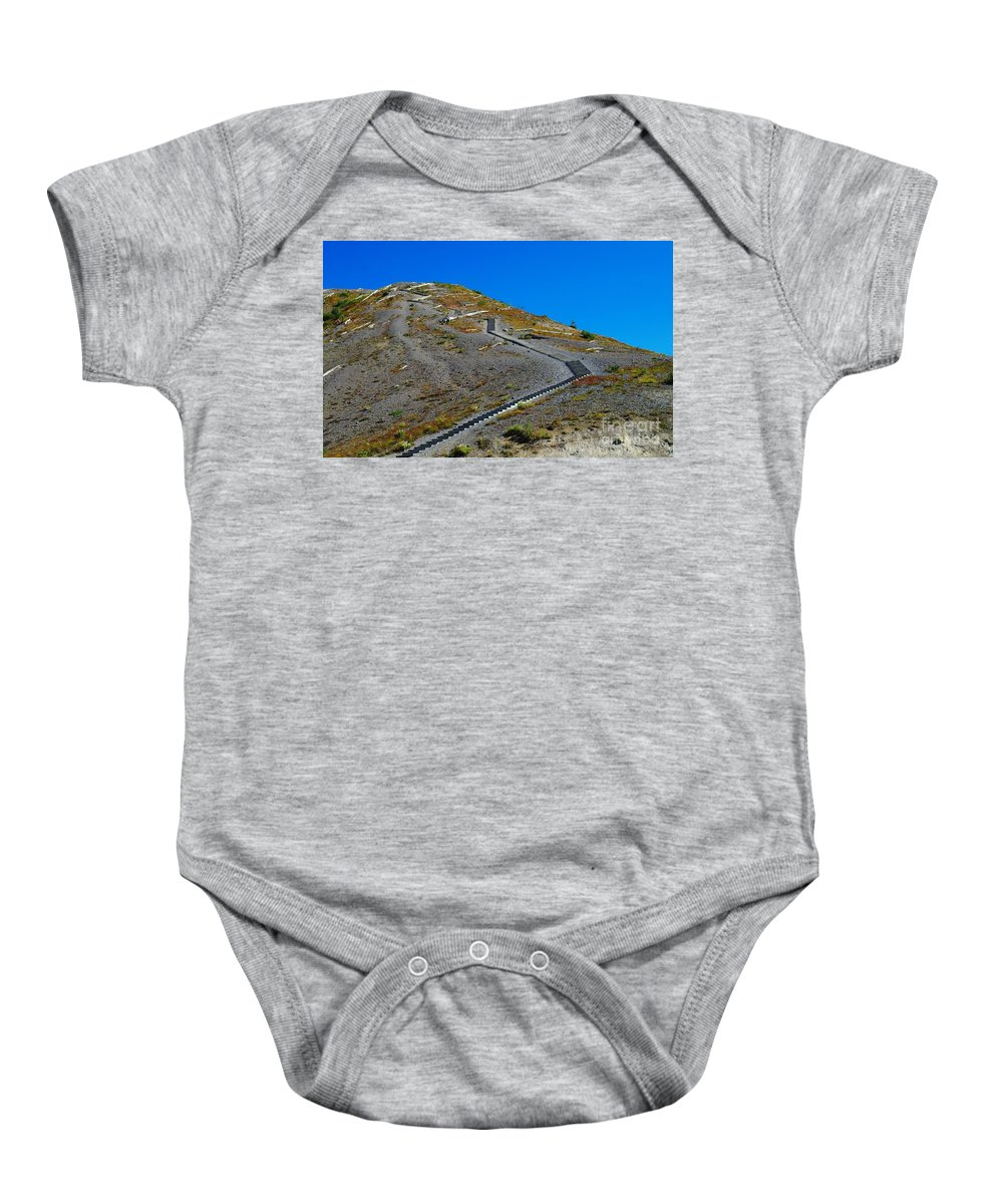 Stairs Baby Onesie featuring the photograph Stairwell To Windy Point by Jeff Swan