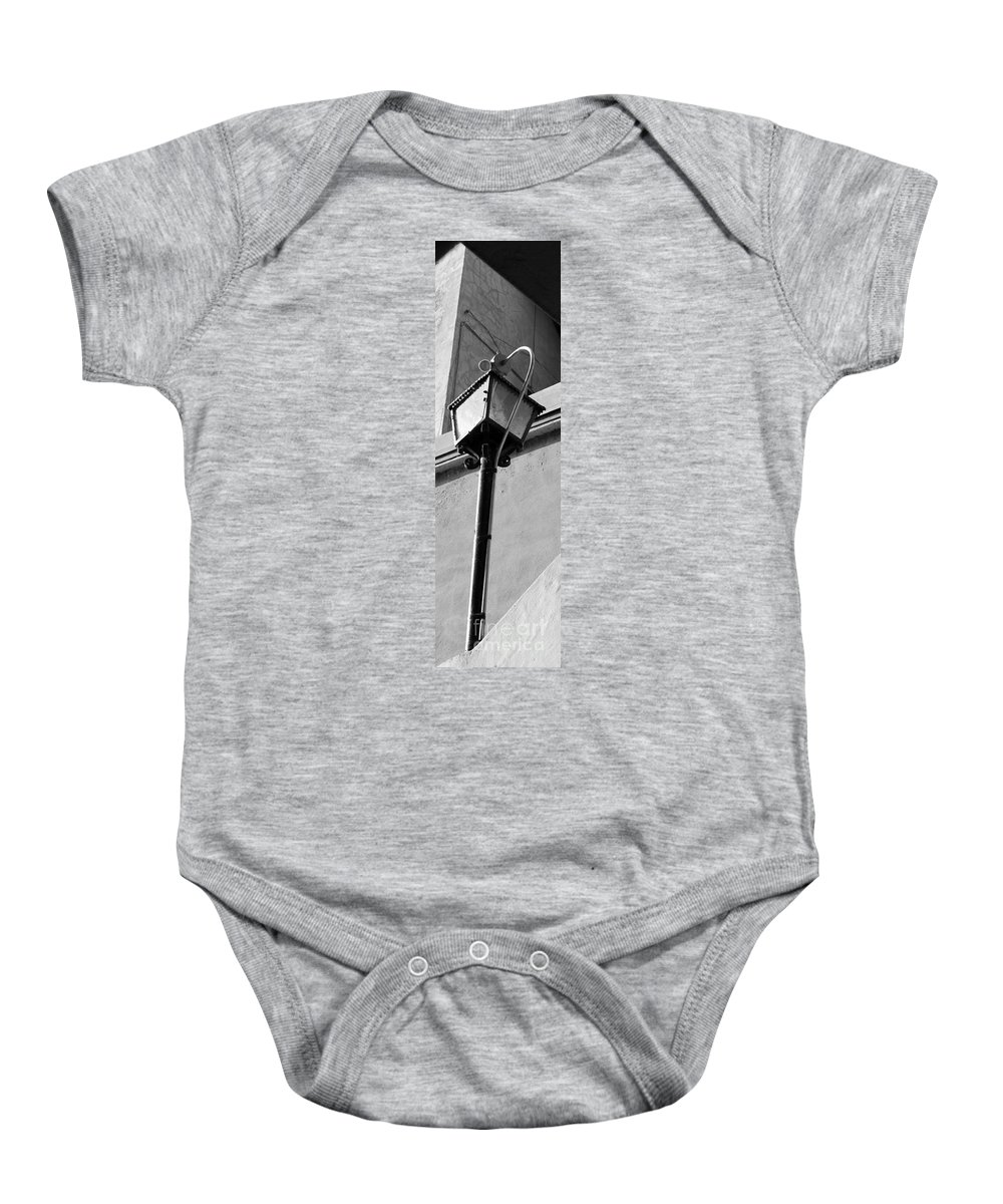Street Baby Onesie featuring the photograph Street Lamp Improved by Alycia Christine
