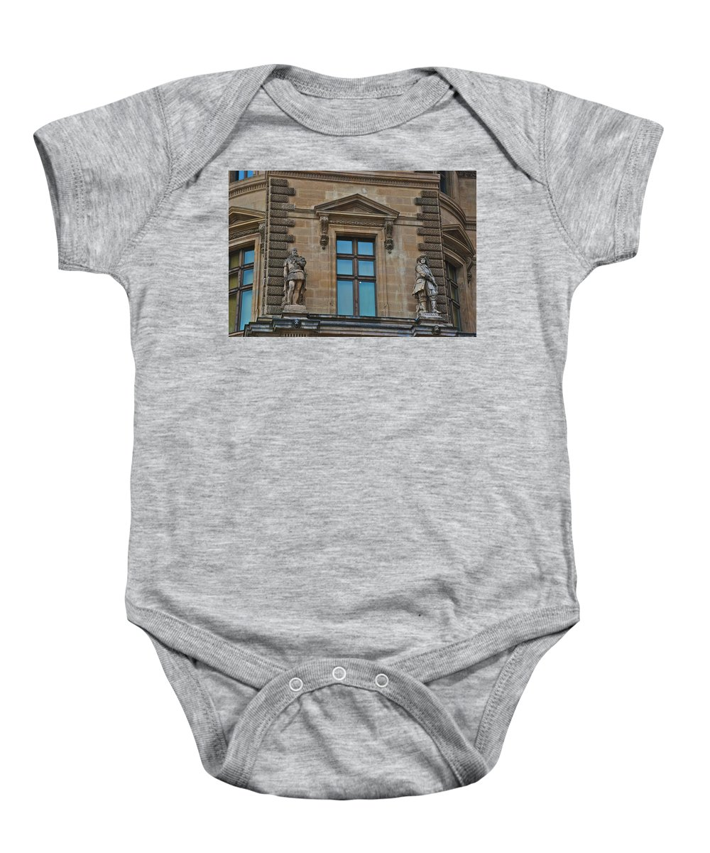 Louvre Baby Onesie featuring the photograph Sully And Vauban by Eric Tressler