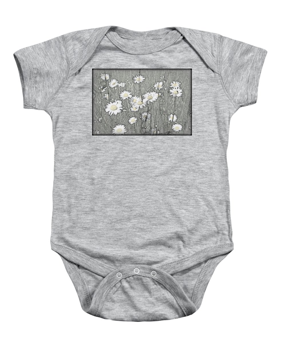 Daisey Baby Onesie featuring the photograph Summer Daisies by Kathy Sampson
