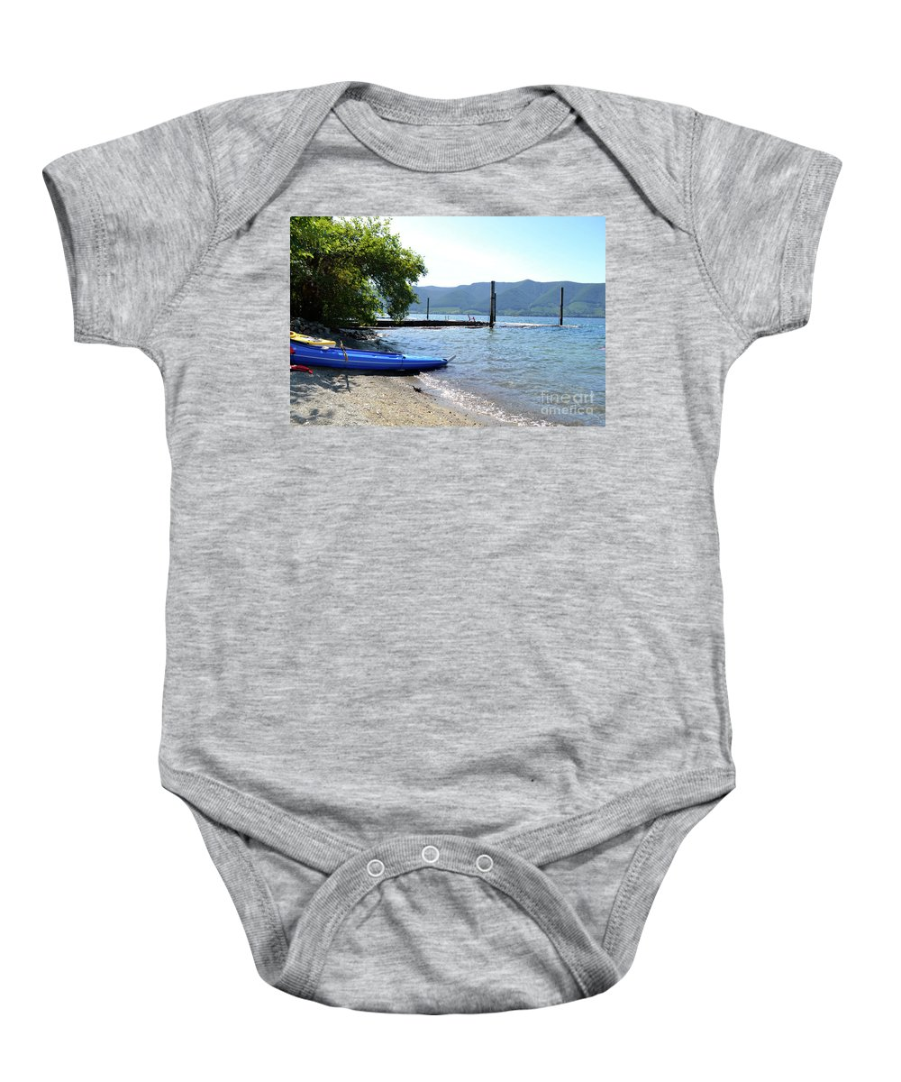 Ocean Baby Onesie featuring the photograph Summer Kayak by Traci Cottingham