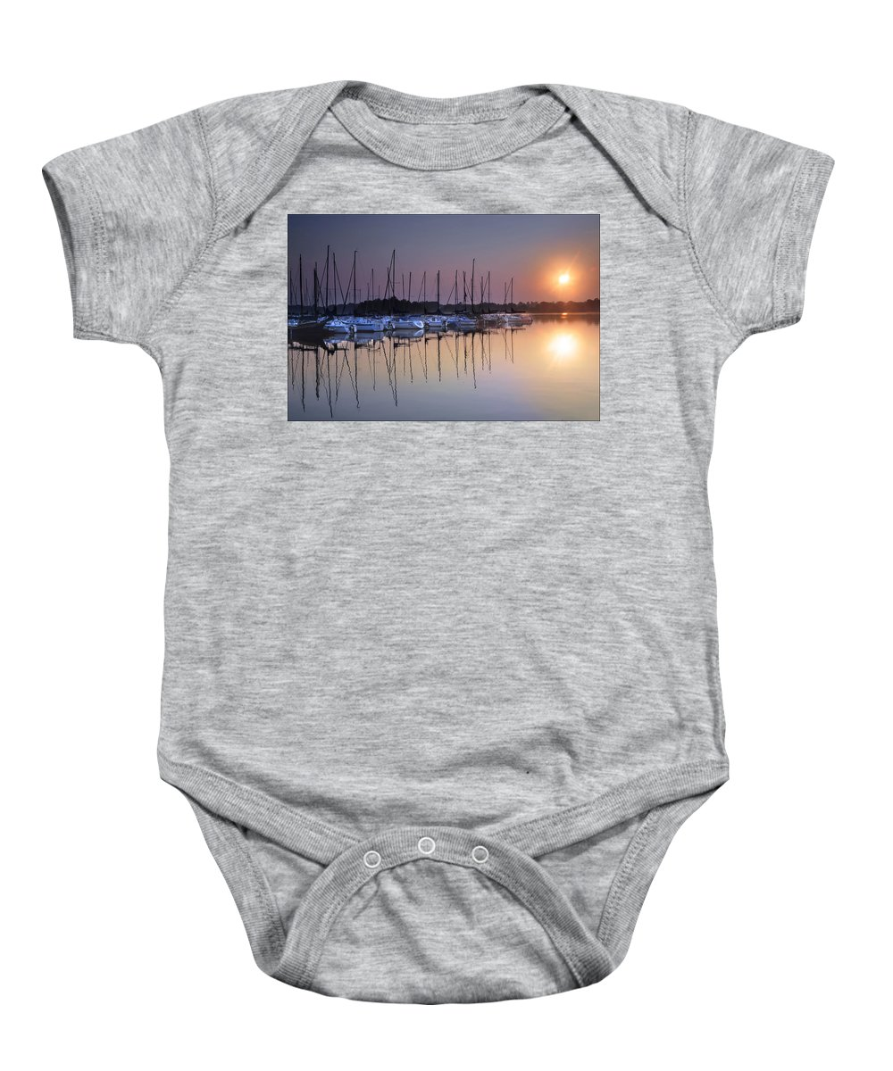 Summertime Sailing Baby Onesie featuring the photograph Summertime Sailing by Randall Branham