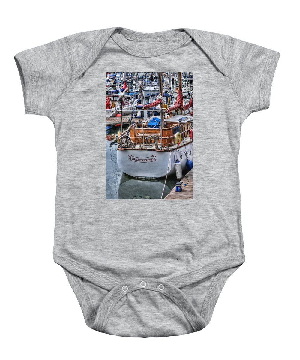 Summertime Baby Onesie featuring the photograph Summertime by Steve Purnell