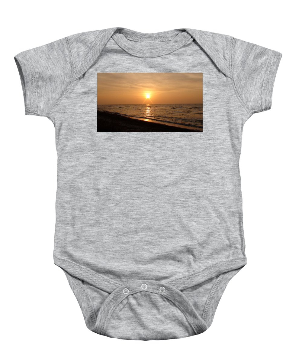 Sunset Baby Onesie featuring the photograph Sunset On The Gulf by Christy Leigh