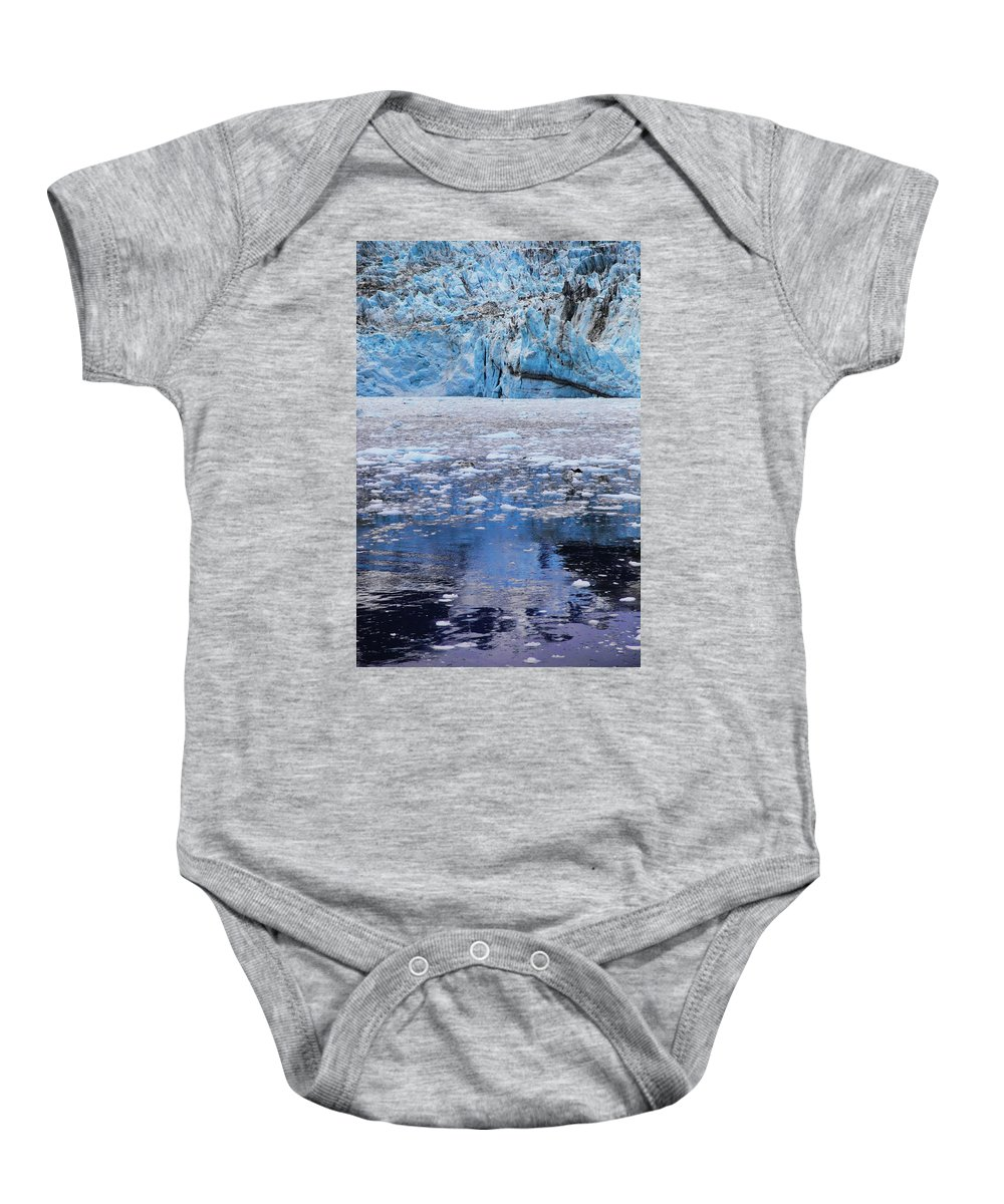 Alaska Baby Onesie featuring the photograph Surprise Glacier by Rick Berk