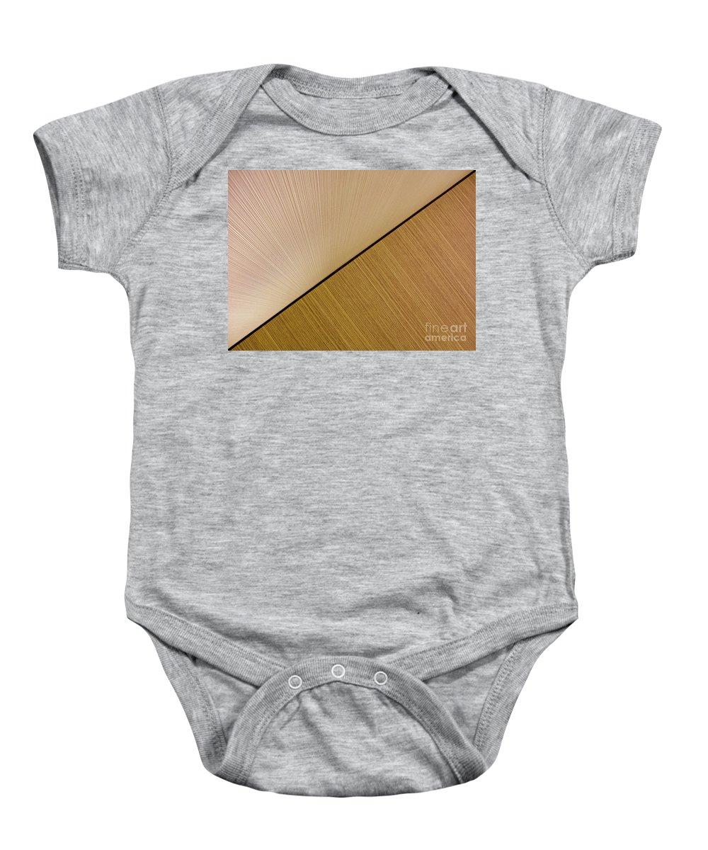 Abstract Baby Onesie featuring the photograph Textures. Beige. by Ausra Huntington nee Paulauskaite