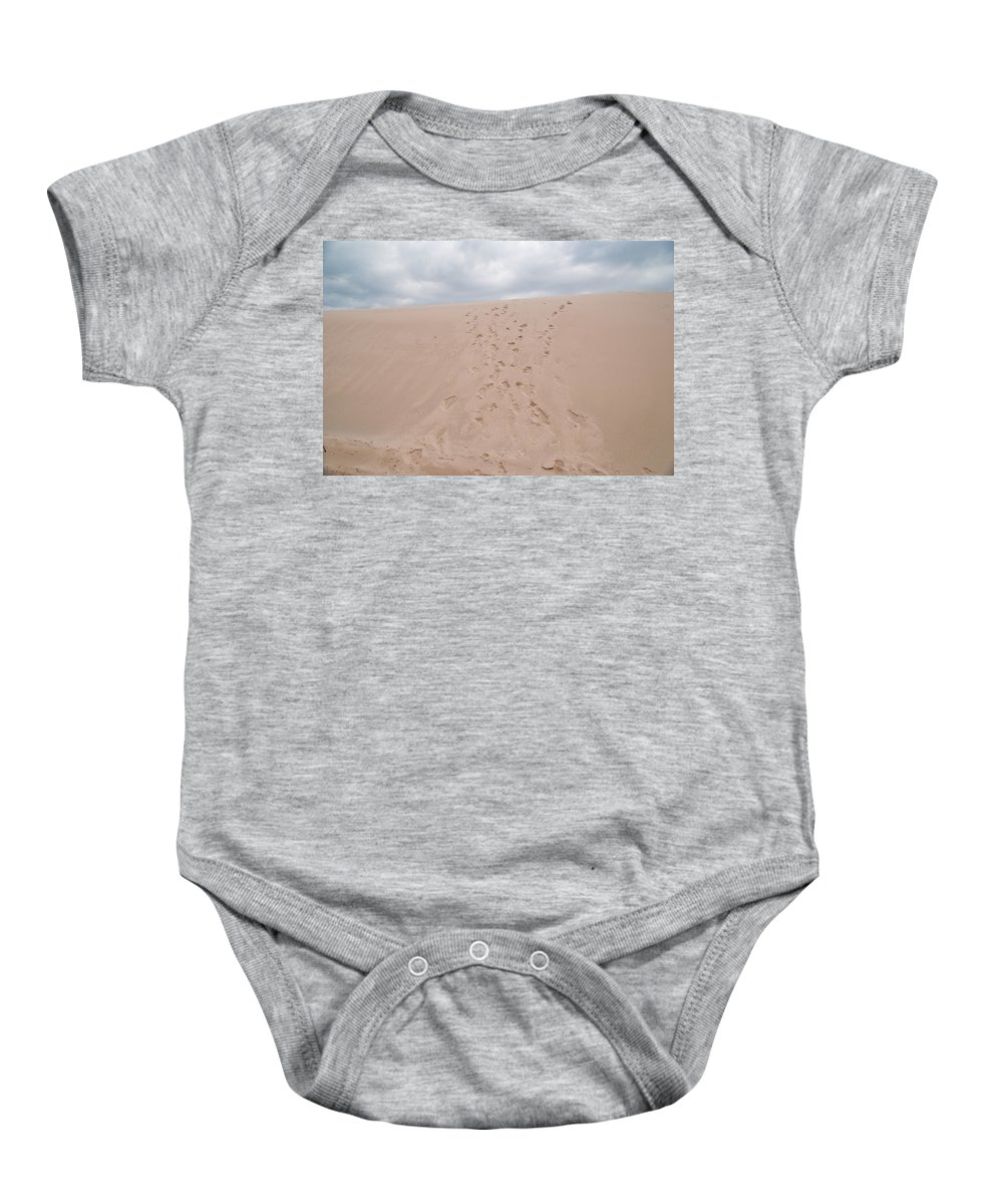 Dune Baby Onesie featuring the photograph The Buffalo Dune by Guy Whiteley