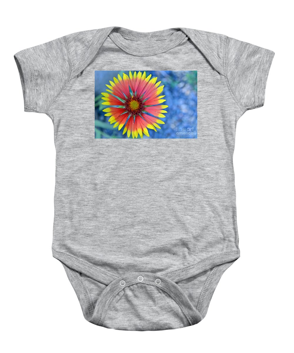 Flower Baby Onesie featuring the photograph The Extrovert by Tara Turner