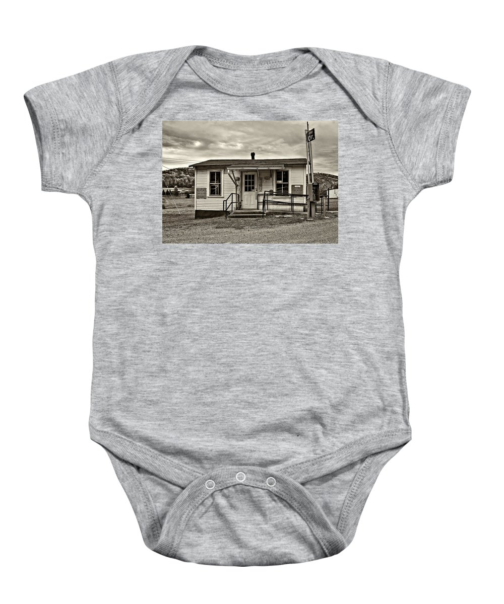 Glady Baby Onesie featuring the photograph The Heart Of Glady Sepia by Steve Harrington