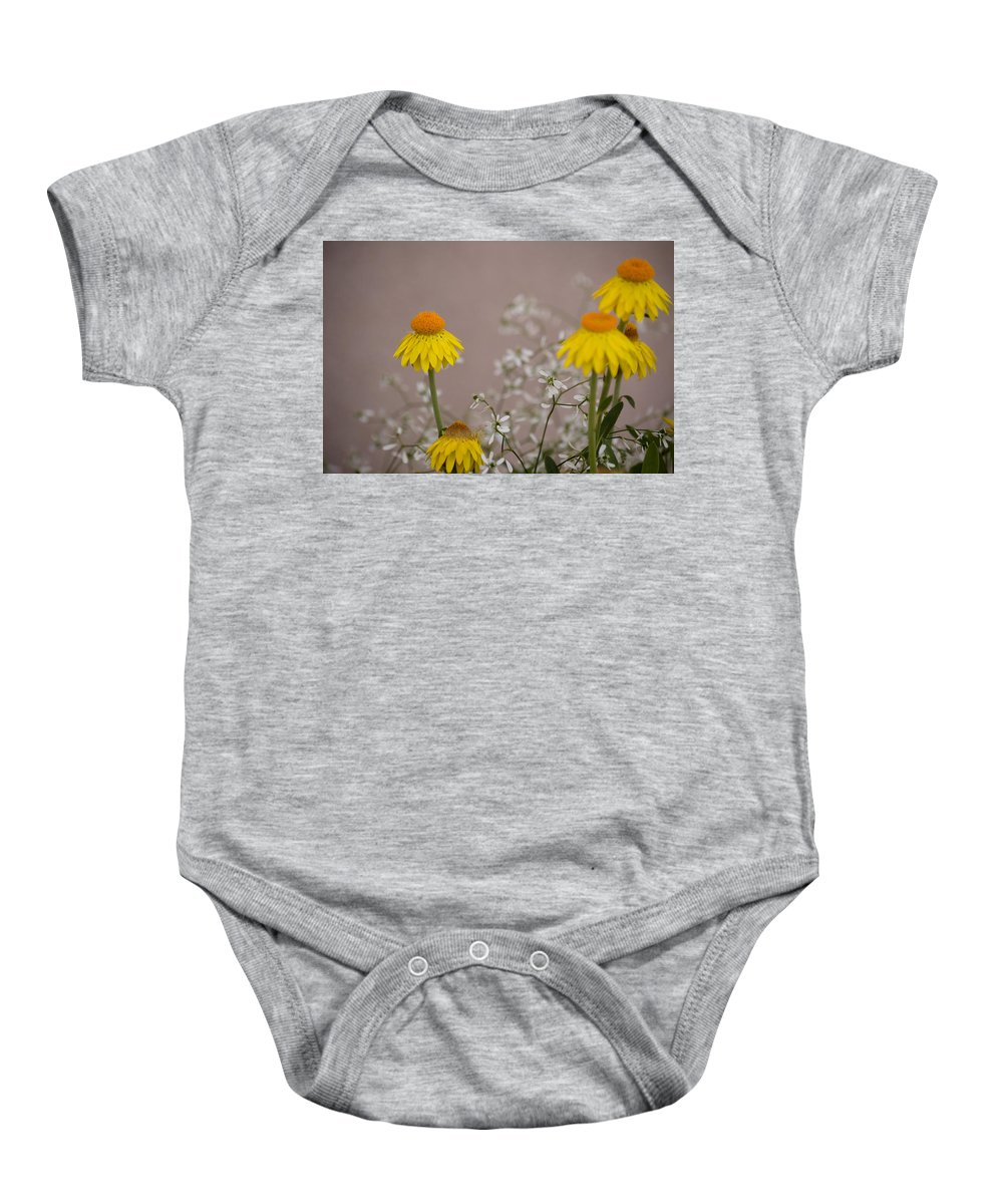 Flower Baby Onesie featuring the photograph The Heart Of The Matter by Trish Tritz