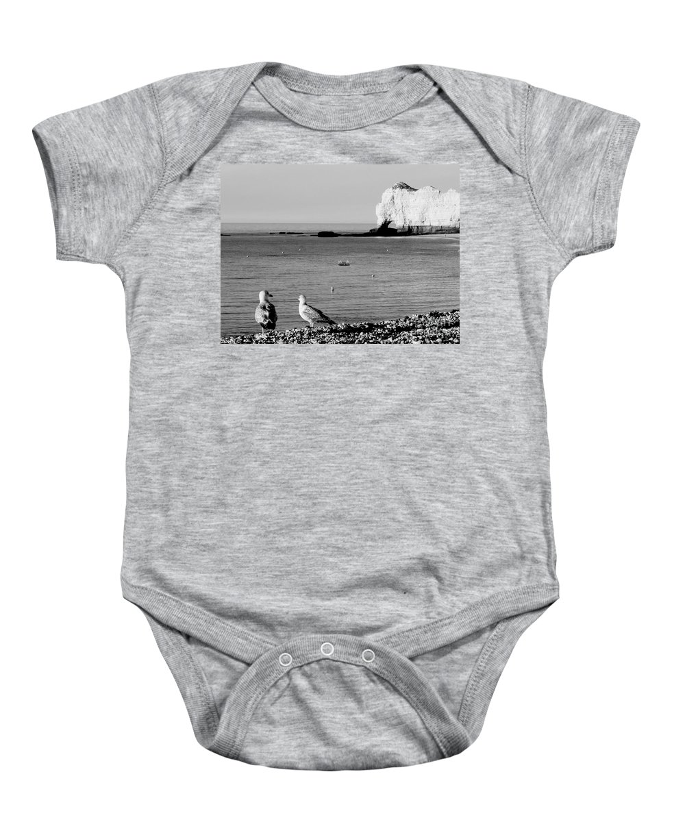 Albatros Baby Onesie featuring the photograph The Lazy Albatrosses by Donato Iannuzzi