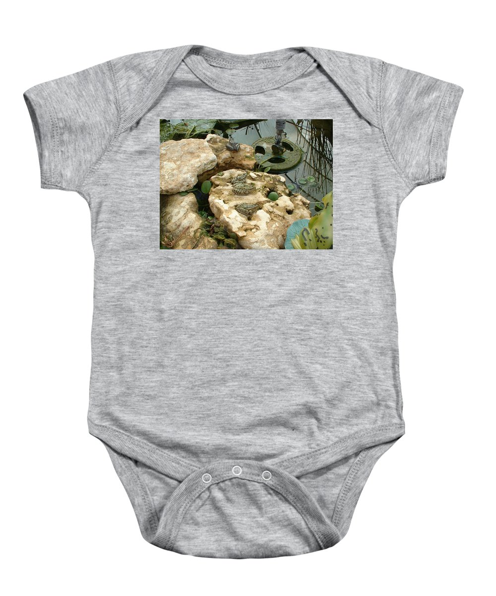 Frogs Baby Onesie featuring the photograph The Meeting by Bonfire Photography