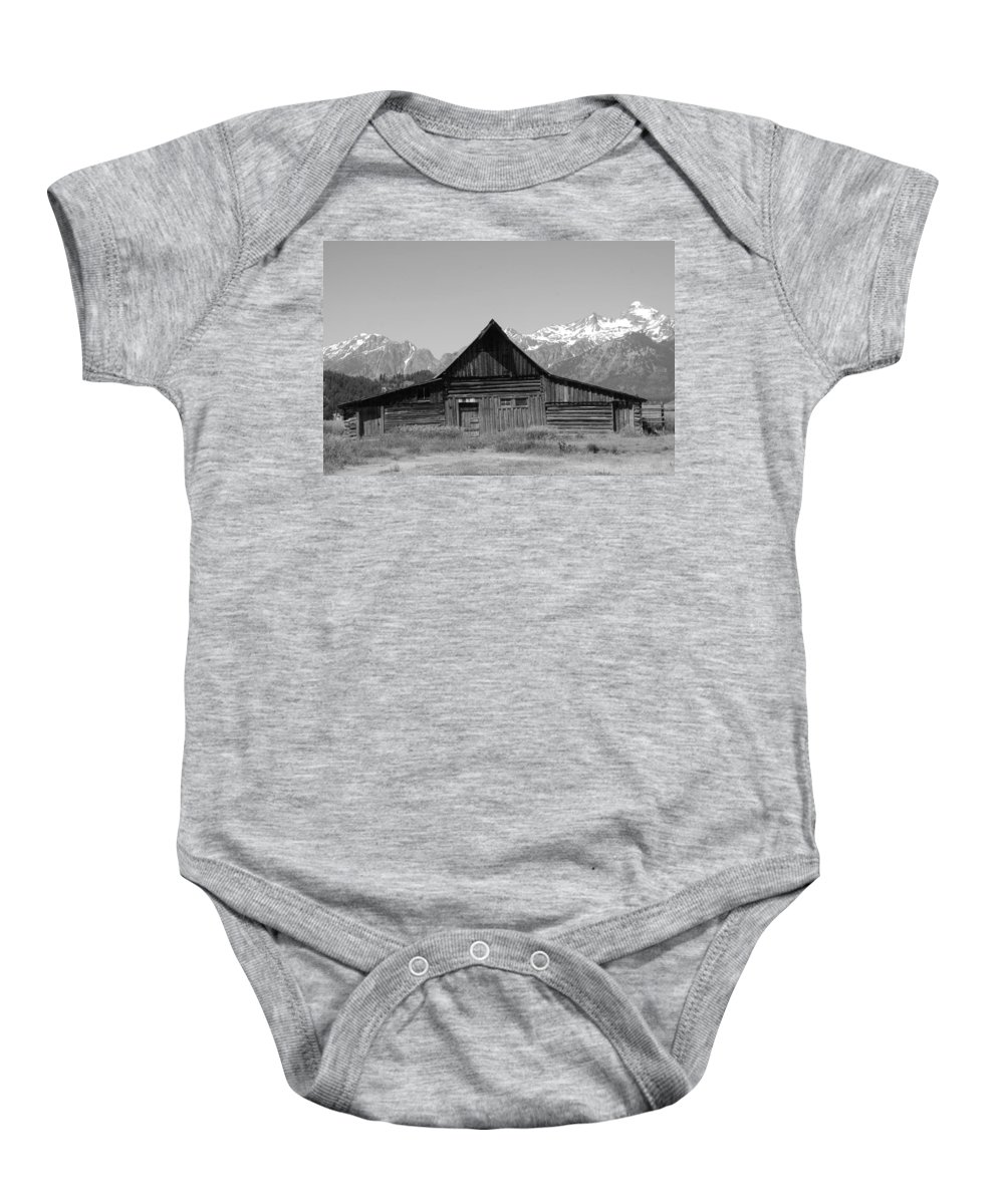 Barn Baby Onesie featuring the photograph The Old Barn by Dany Lison
