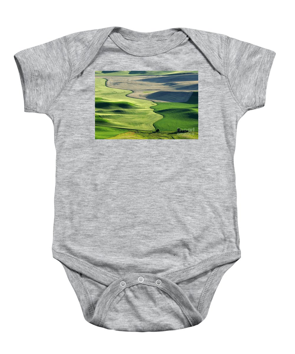 Palouse Baby Onesie featuring the photograph The Palouse 2 by Bob Christopher