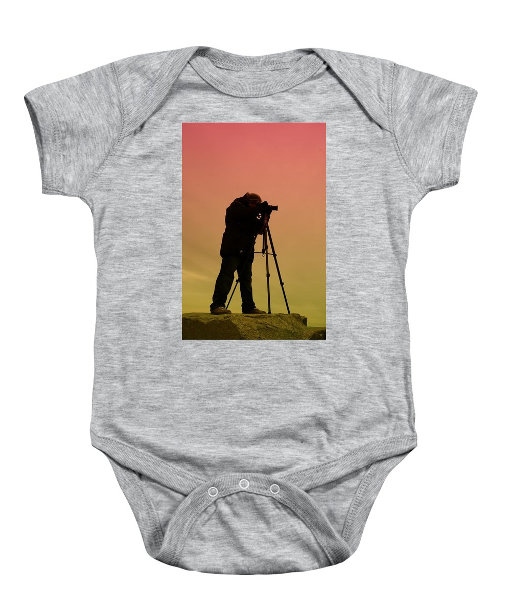 Photographer Baby Onesie featuring the photograph The Photographer by Paul Ward