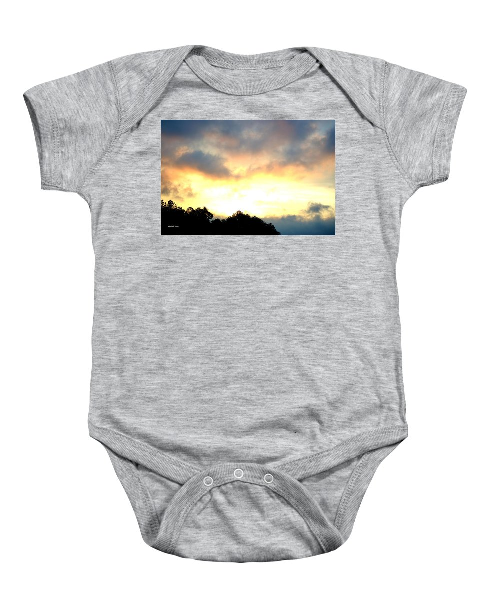 Rising Baby Onesie featuring the photograph The Rising Sun by Maria Urso