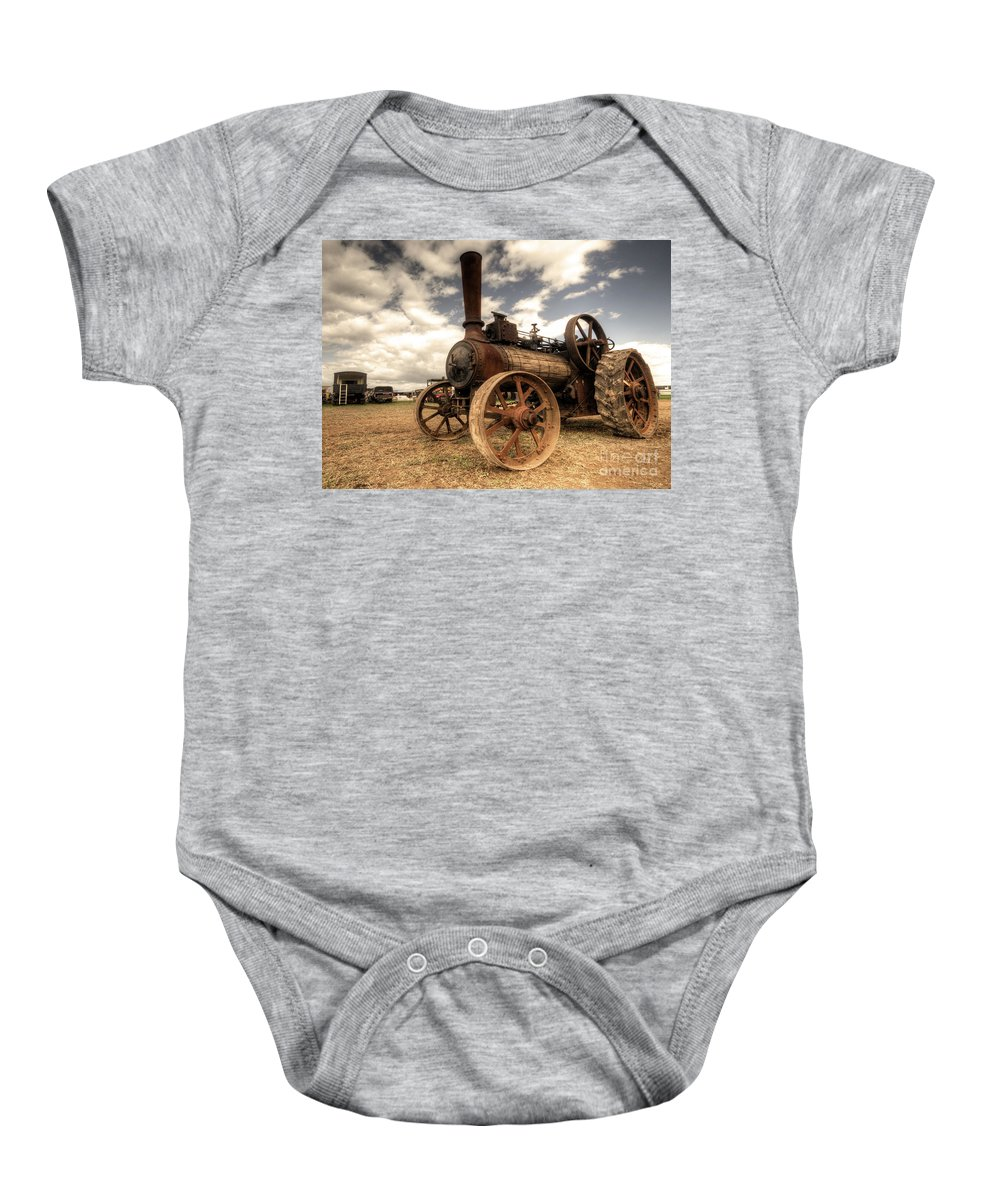 Mclaren Baby Onesie featuring the photograph The Rusty Mclaren by Rob Hawkins