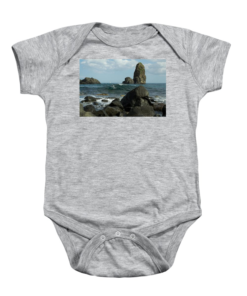 Acireale Baby Onesie featuring the photograph The Sea Of Sicily by Donato Iannuzzi