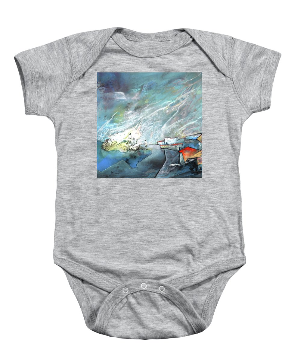 Impressionism Baby Onesie featuring the painting The Shores Of Galilee by Miki De Goodaboom