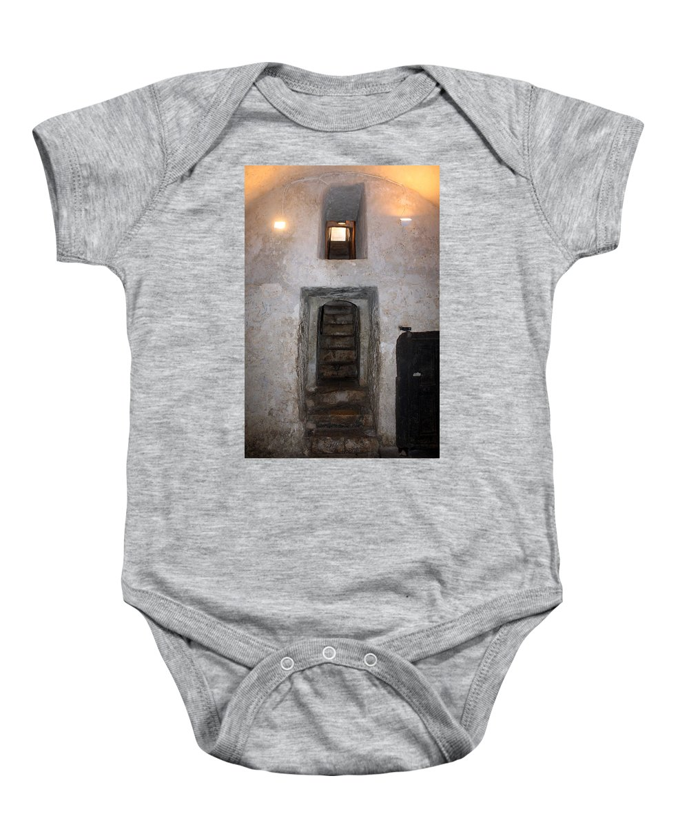 Stairs Baby Onesie featuring the photograph The Stairs To John The Baptist Tomb by Munir Alawi
