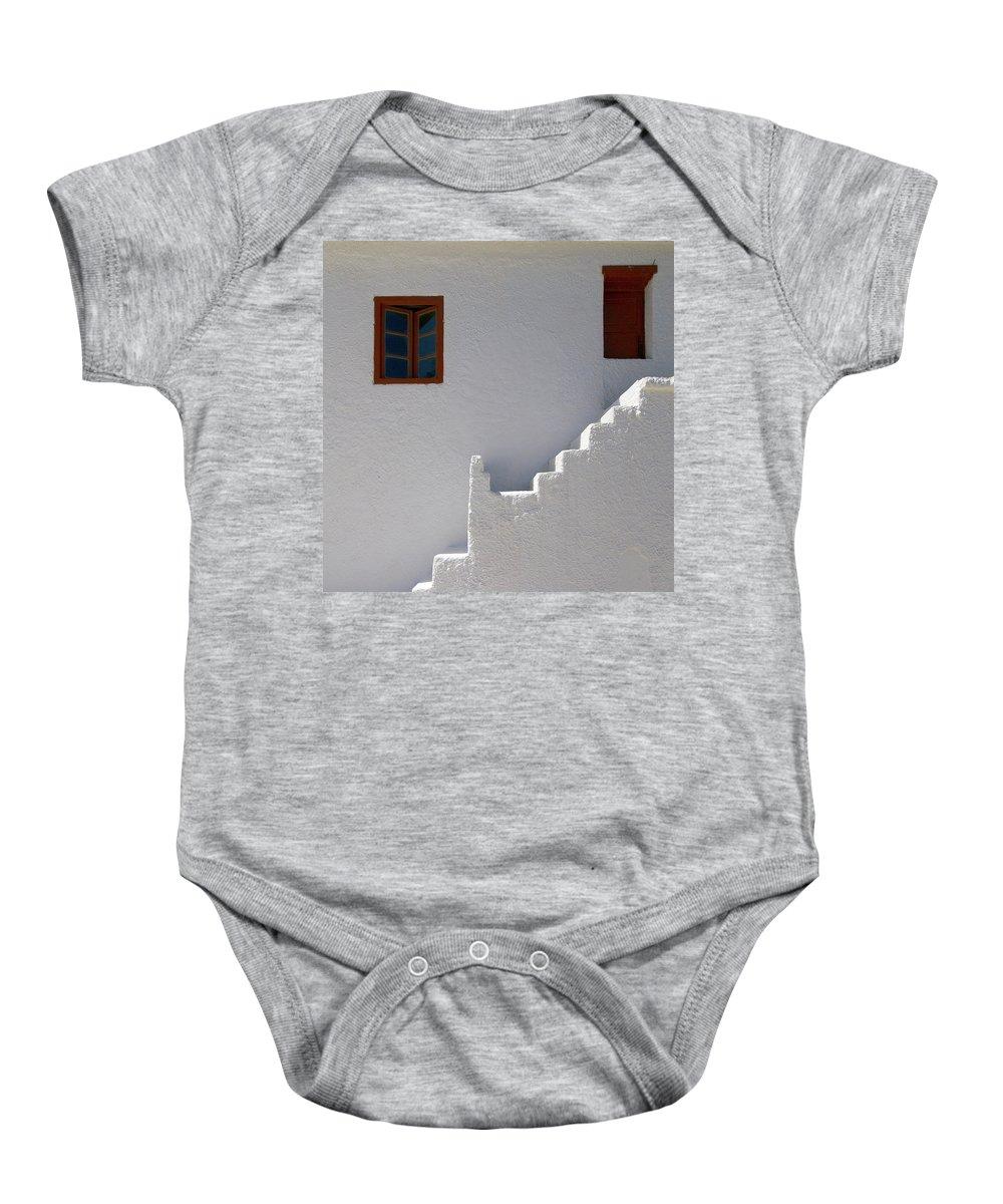 Jouko Lehto Baby Onesie featuring the photograph The Steps And The Window by Jouko Lehto