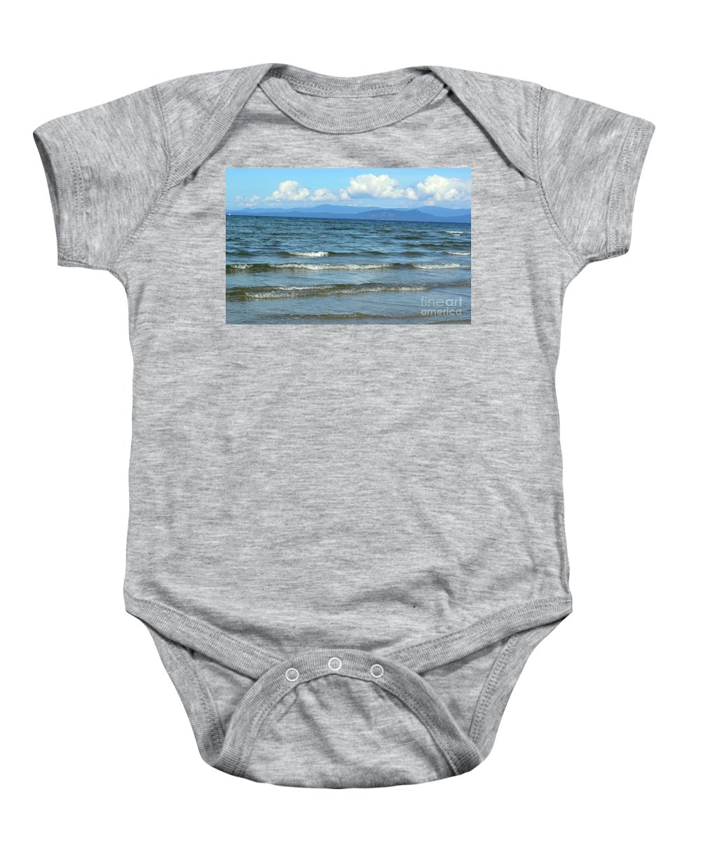 Ocean Baby Onesie featuring the photograph The Tide Was High by Traci Cottingham