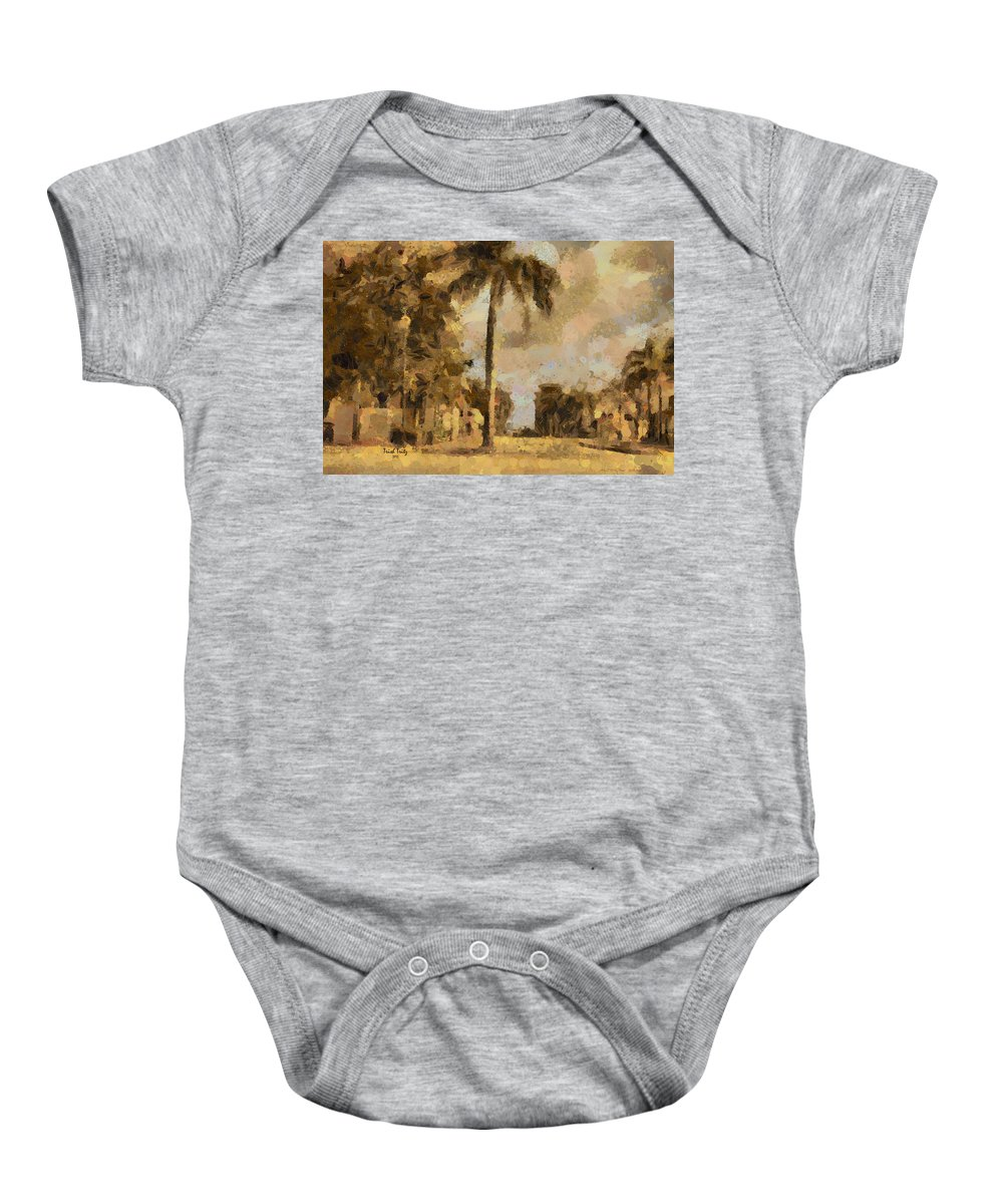 Palm Tree Baby Onesie featuring the photograph The Wonder Of Fort Pierce by Trish Tritz