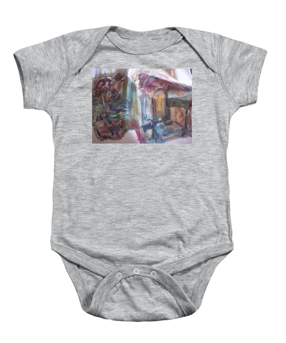 Play Baby Onesie featuring the painting The World Loves A Play by Judith Desrosiers
