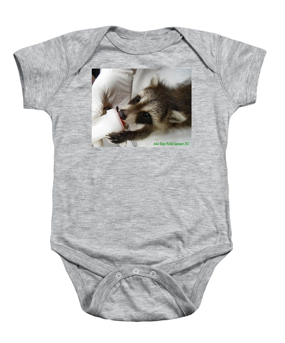 Raccoon Baby Onesie featuring the photograph These Eyes by Art Dingo