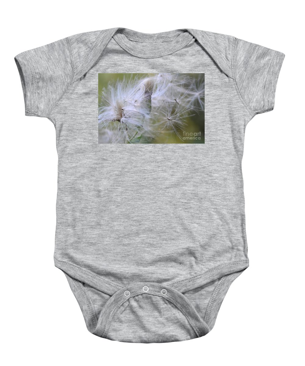 Thistle Seeds Baby Onesie featuring the photograph Thistle Seeds by Bob Christopher