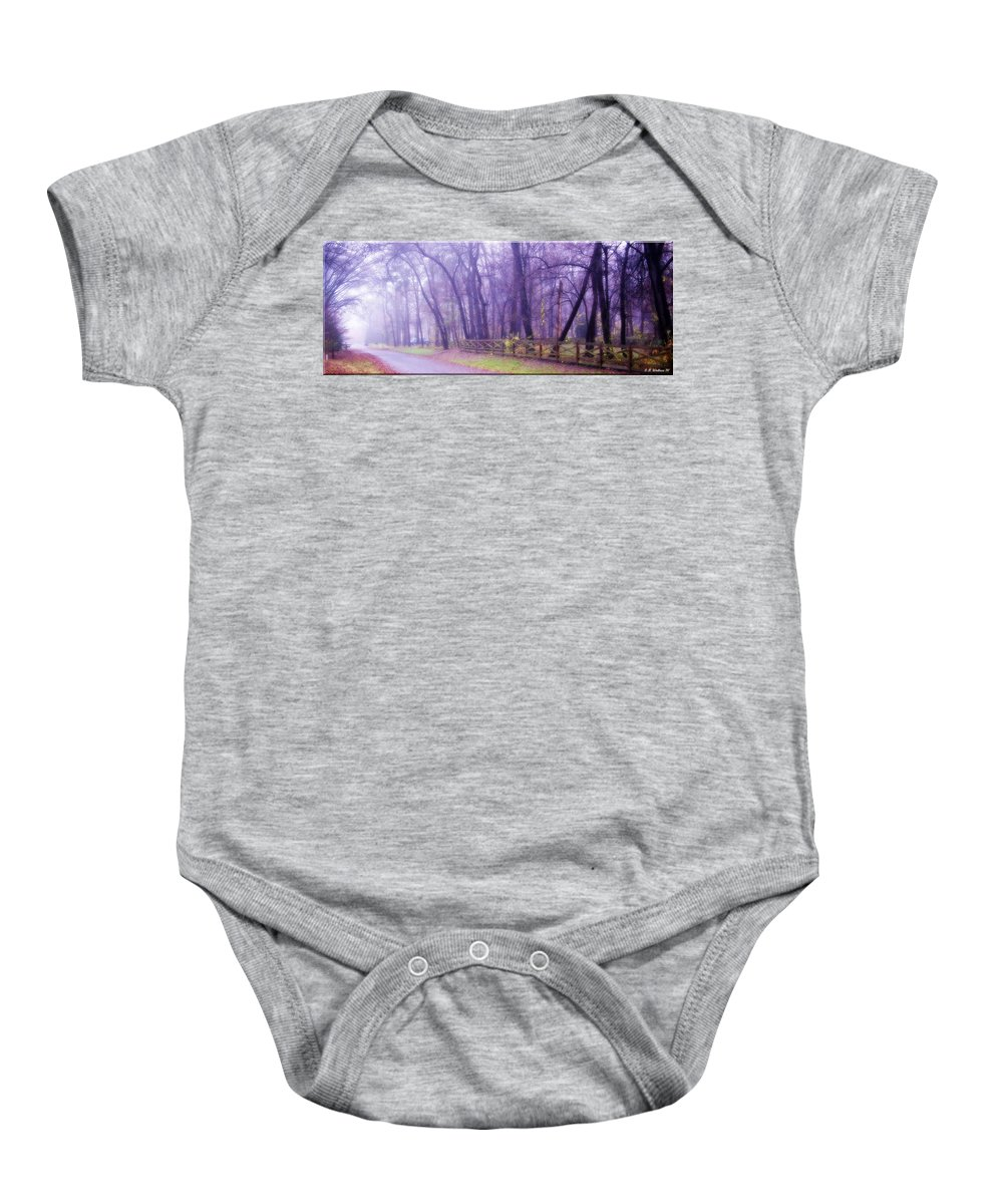 2d Baby Onesie featuring the photograph Thomas Road by Brian Wallace