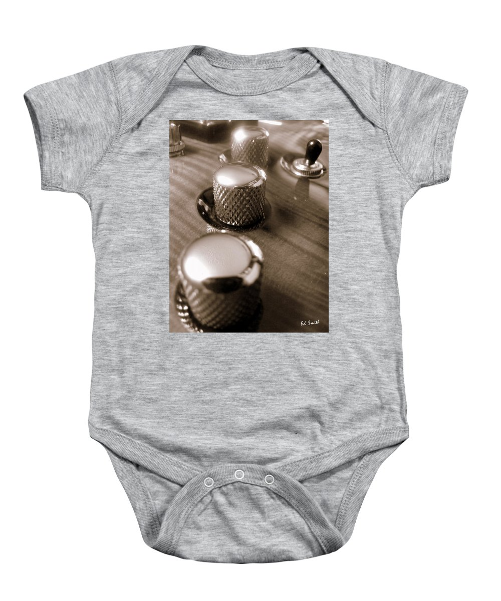 Three Way Baby Onesie featuring the photograph Three Way by Ed Smith