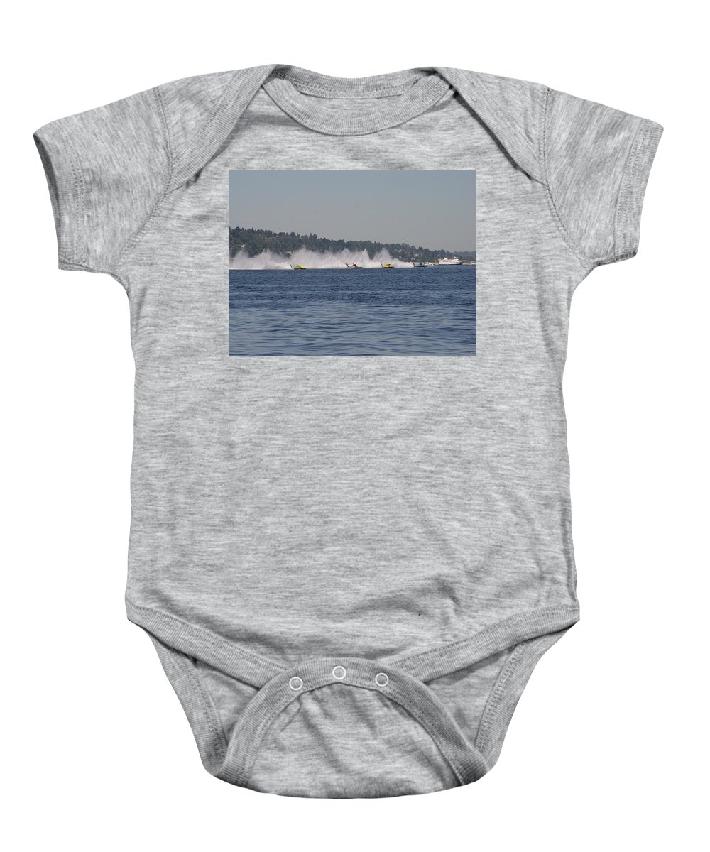 Racing Baby Onesie featuring the photograph Time To Race by Michael Merry