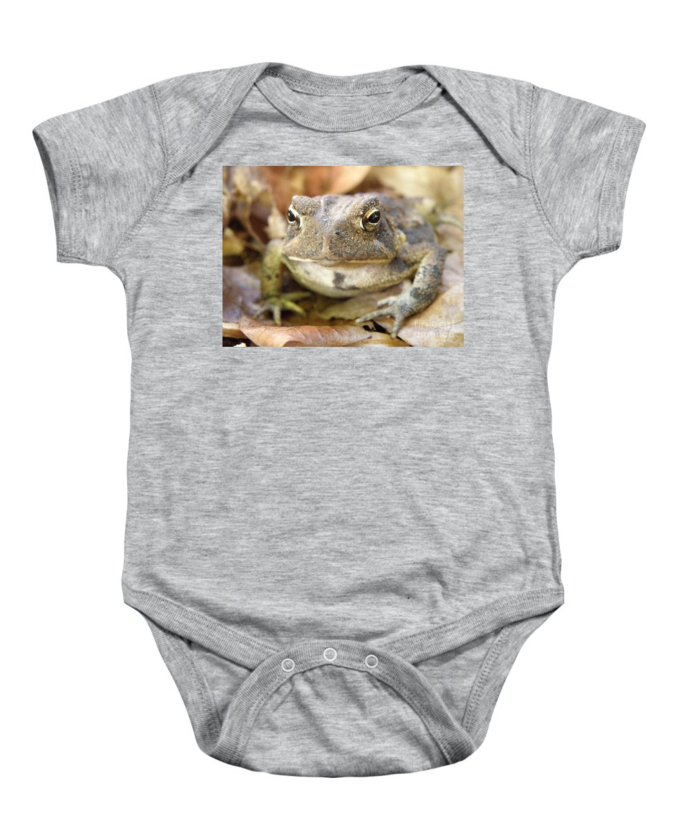 Toad Baby Onesie featuring the photograph Toad by Lainie Wrightson