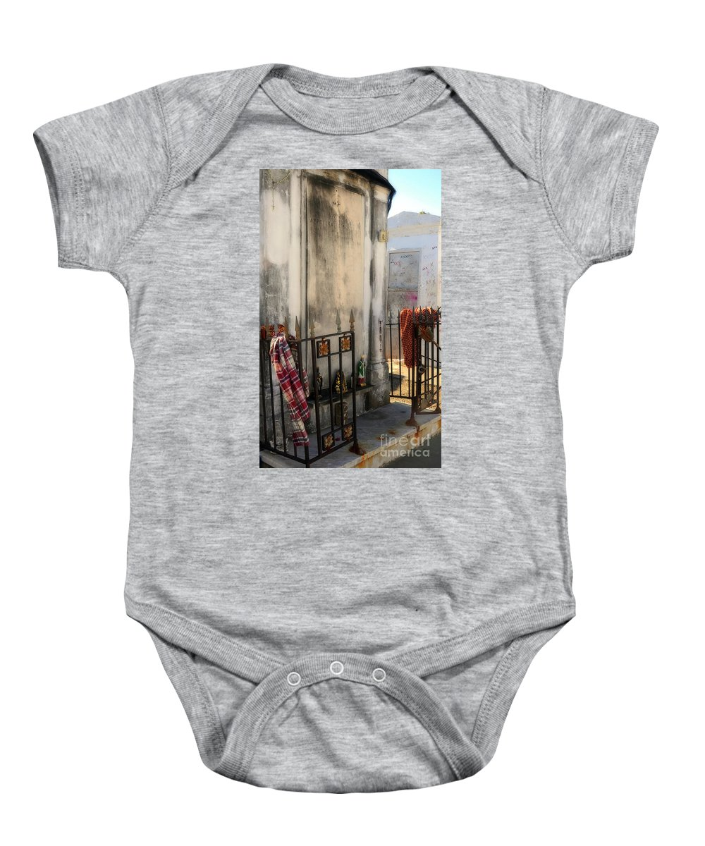 Tomb Baby Onesie featuring the photograph Tomb Of Famille Perrault by Kathleen K Parker