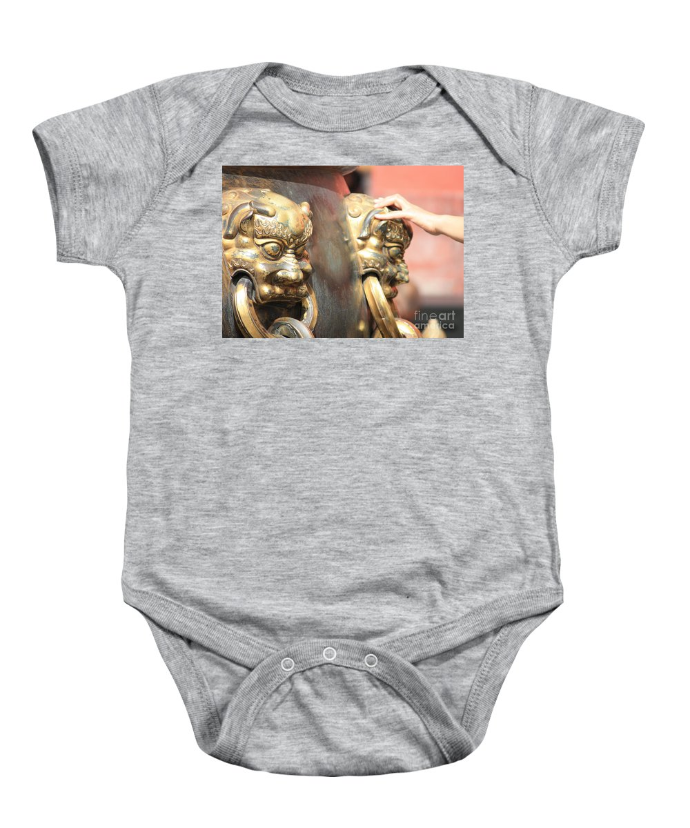 Good Fortune Baby Onesie featuring the photograph Touch Of Good Fortune by Carol Groenen