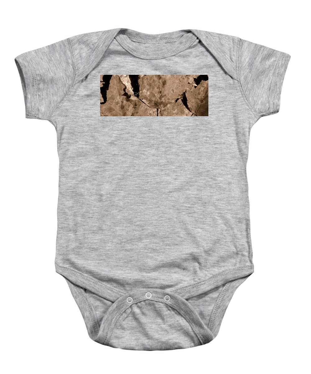 Trio Baby Onesie featuring the photograph Trio by Ed Smith