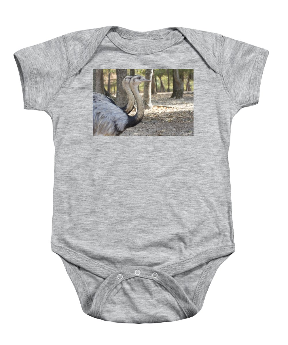Rheas Baby Onesie featuring the photograph Twins by Douglas Barnard