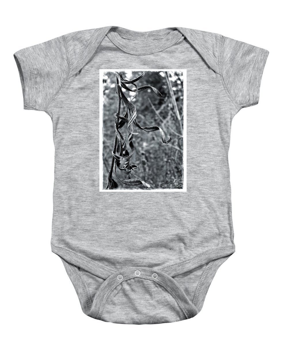 Autumn Baby Onesie featuring the photograph Twisted Leaves by Judi Bagwell