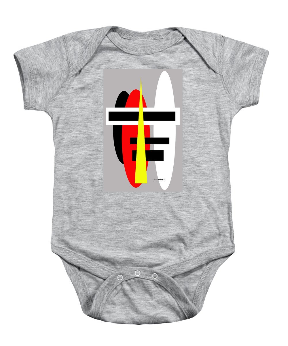 Post Constructivism/geometric Digital Drawings Baby Onesie featuring the photograph Untitled Ch by Doug Duffey