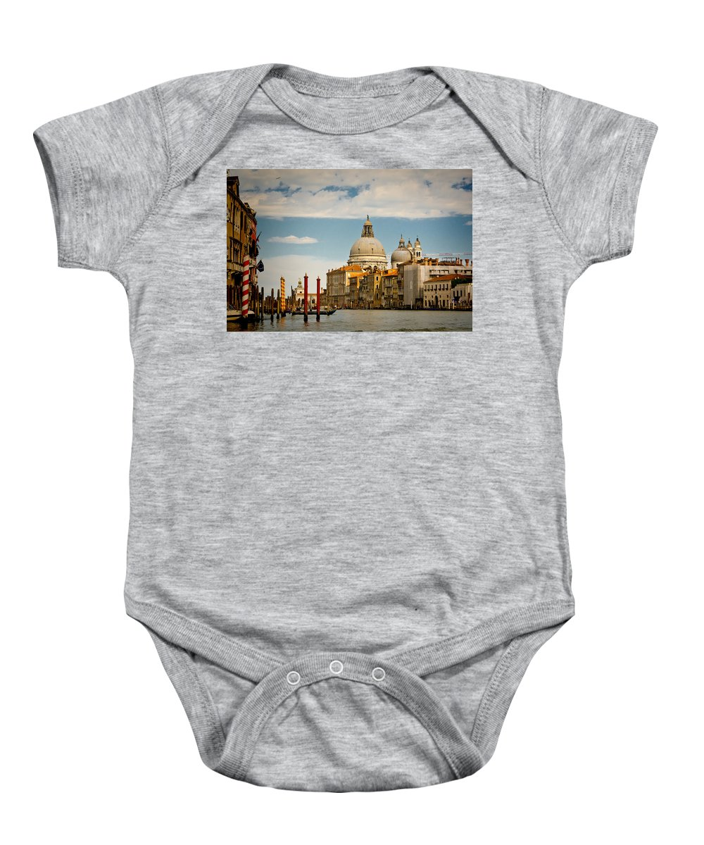 Venice Baby Onesie featuring the photograph Venice Entryway by Jon Berghoff