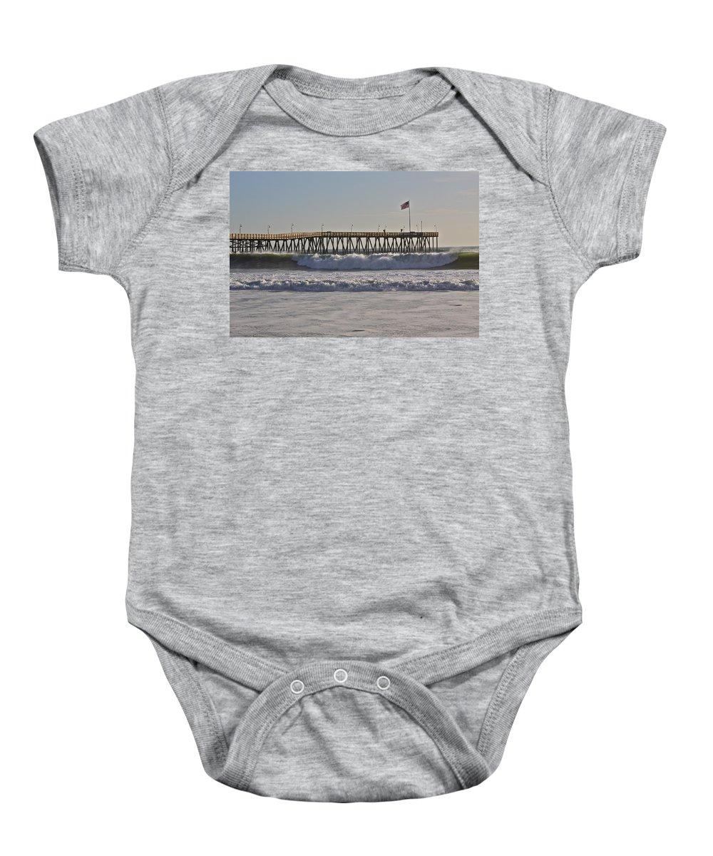 Ocean Baby Onesie featuring the photograph Ventura Pier by Diana Hatcher