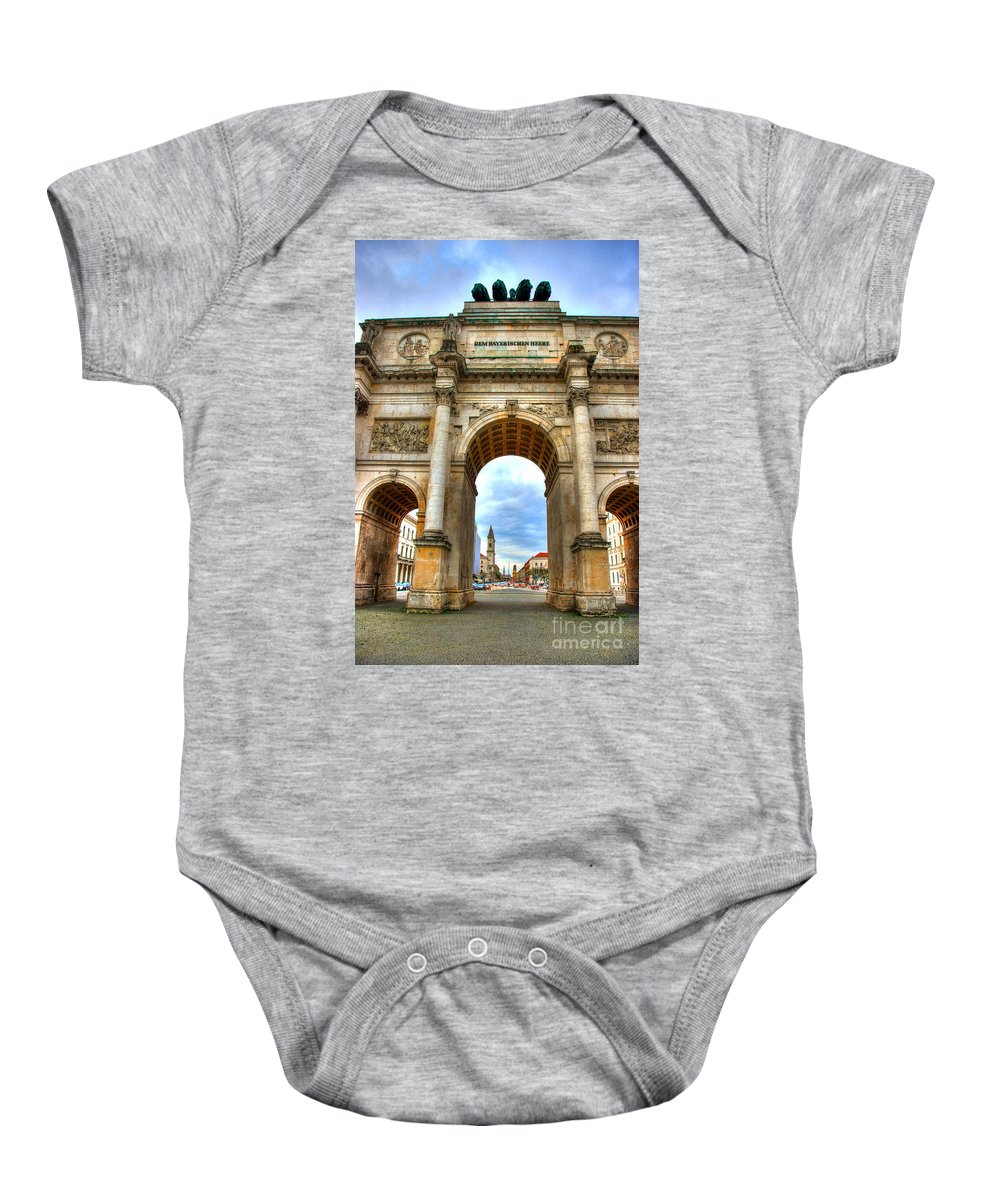 Siegestor Baby Onesie featuring the photograph Victory Gate by Syed Aqueel