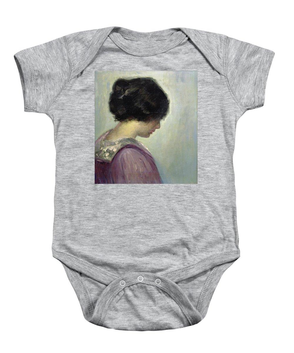 Portrait Of A Lady By Johansen Baby Onesie featuring the painting Viggo Johansen by Portrait of a Lady