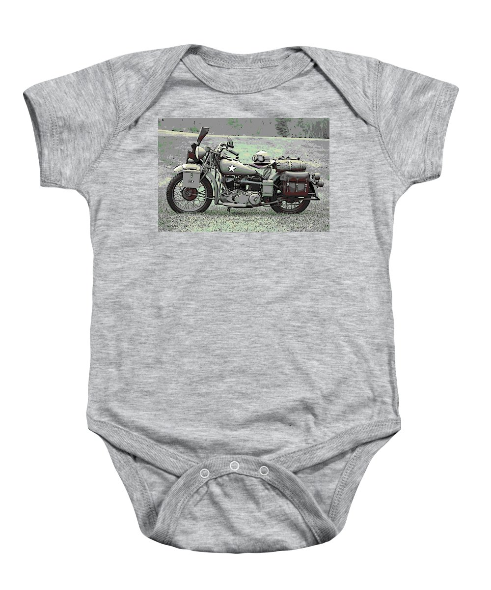 Vintage Baby Onesie featuring the photograph Vintage Iron by George Pedro